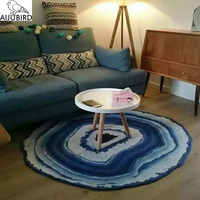 The New Year decoration round carpet bedroom living room computer chair hanging basket cushion creative thin Nordic countryside
