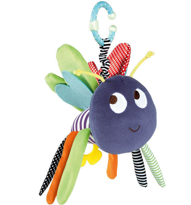 18cm Mamas & papas Bee Activity chimes toy Bed cathe hanging dolls infant toys plush toy baby gift free shipping