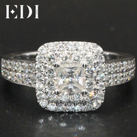 Simulated Diamond 1CT Forever Romantic T Y 9K Rings For Women White Gold Marquise Cut Solitaire