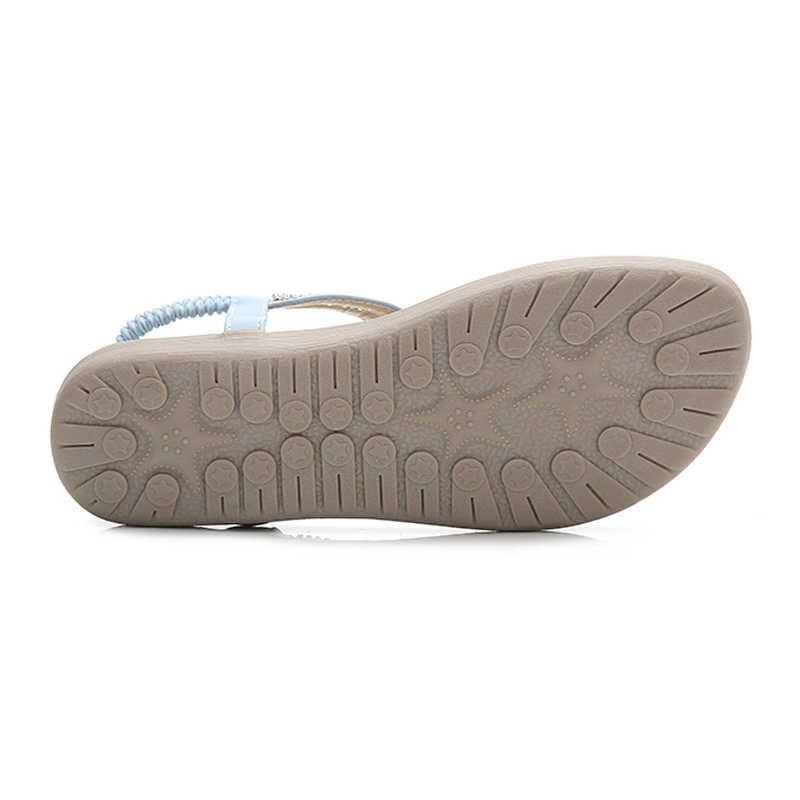 BEYARNES Moda Mulheres Praia Flip Flops Sandálias Beading Senhoras Teenslippers Mulheres Sapatos de Verão respirável Confortável Sandalen