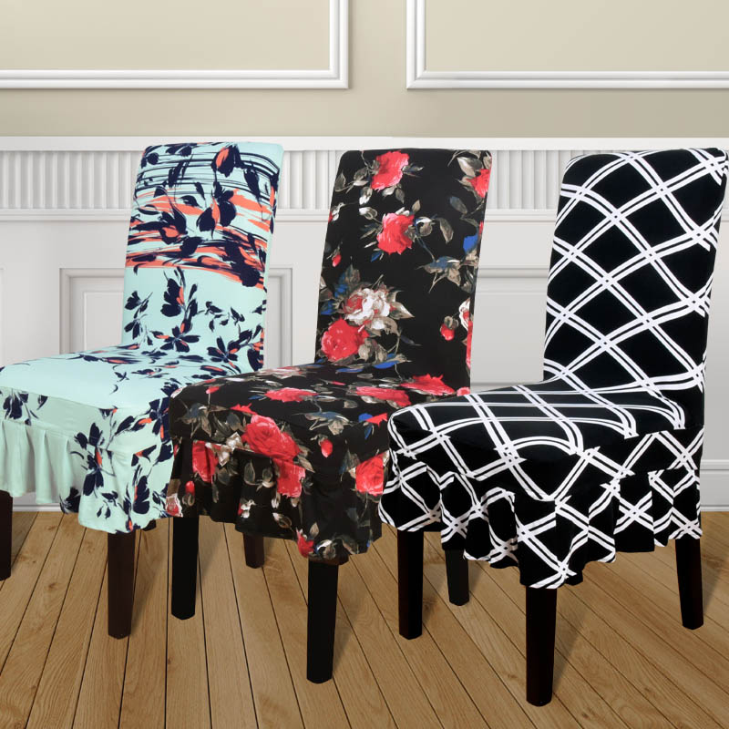 High Quality Elastic Stretch Slipcovers Dining Room Chair CoverChina