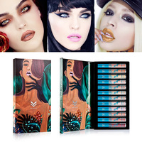 2018 Hot Brand Scrub Waterproof Lip Gloss Metallic High Quality Lipstick 12 Makeup Set New Beauty Cosmetics Lasting Waterproof
