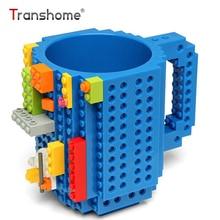 Transhome Bausteine Becher 350 ml Kreative Persönlichkeit Kunststoff Unzerbrechlich Tumbler Montage Von DIY Montage Milch Kaffeetassen