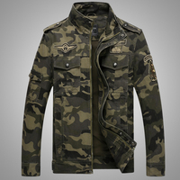 Bomber Jacket Men 2017 New Spring Autumn Camouflage Windproof Mandarin Collar Casual Fashion Army Military Camo