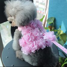 Soft Breathable Dog Harness Beautiful flowers Adjustable Pet Vest Rope Dog Leashes Set Chest Strap Leads Harness Supply