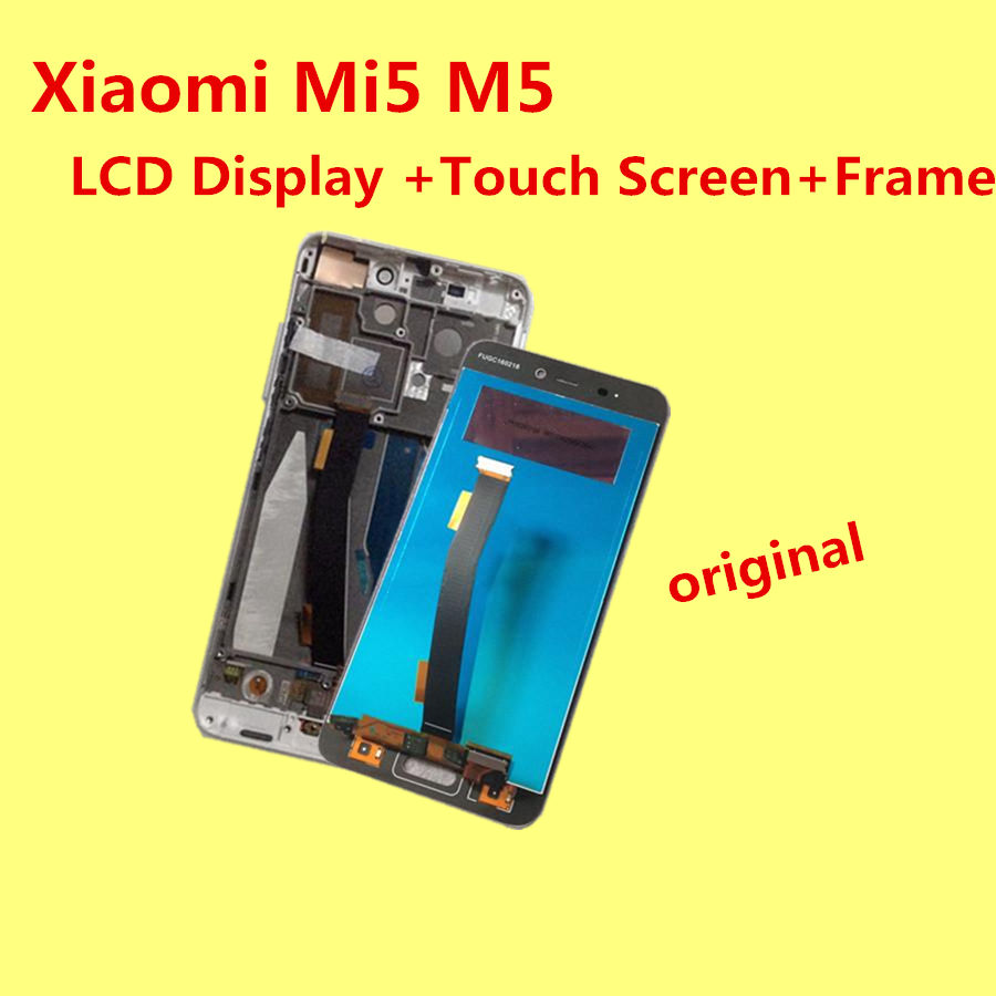Original for Xiaomi Mi5 M5 LCD Display Touch Screen frame Tools Digitizer Glass Lens Assembly Replacement