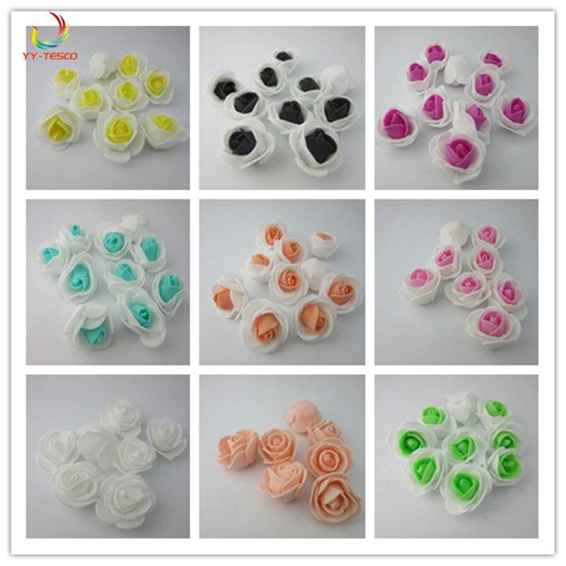 5000 pièces artificielle Mini PE mousse Rose fleur tête fait à la main bricolage mariage maison fête décoration bricolage Scrapbooking couronne fausse fleur