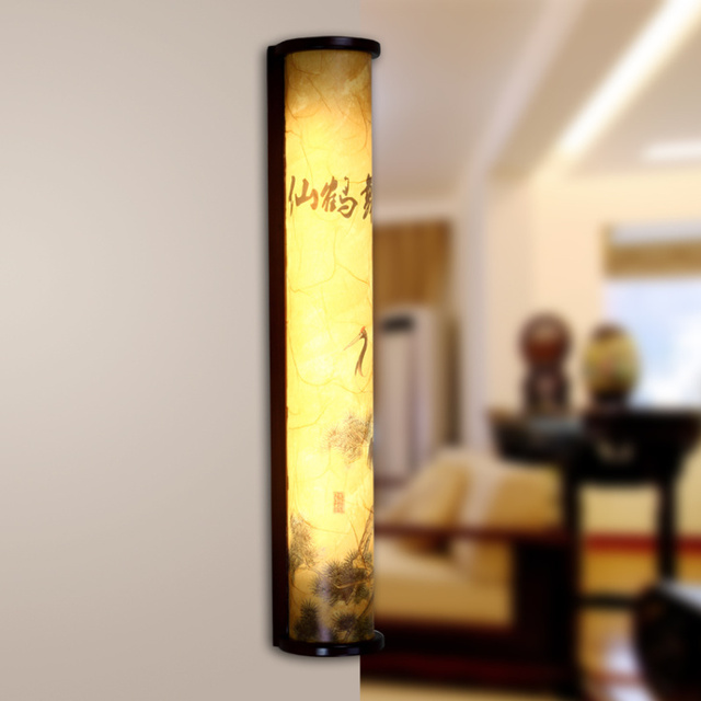 Chinese style wall lamp antique wall lamp classical wall lamp wooden lamp living room wall lamp study light lighting lamps