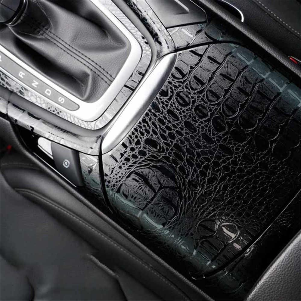 150*20 см автомобильные наклейки внутренняя Автомобильная наклейка Имитация крокодиловой кожи Текстура украшения автомобиля аксессуары для укладки