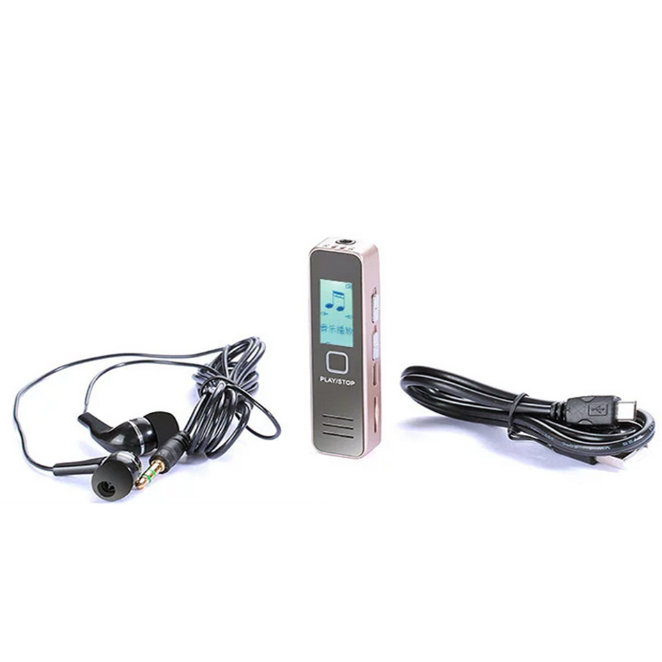 Mini Digital Voice Recorder 8GB Professional Audio Recorder MP3 Player TF Card Dictaphone Record Microphone Sound recording Pen