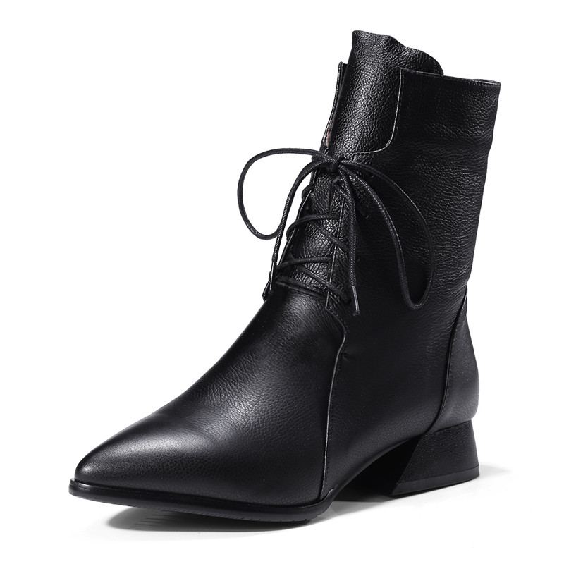 LOVEXSS Woman Autumn Winter Cross Tied Ankle Boots Fashion Sexy Plus Size 34 42 Martin Boots Black Brown High Heeled Shoes чехол с аккумулятором gmini mpower case mpcs45 white для galaxy s4 4500mah