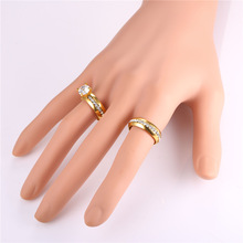 Couple Rings For Men and Women Silver/Gold Color