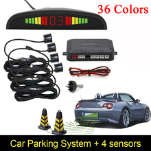 4 sensores de estacionamento de display LED car veículos Auto backup reversa sistema de radar de alarme, monitor do sistema detector de luz de fundo