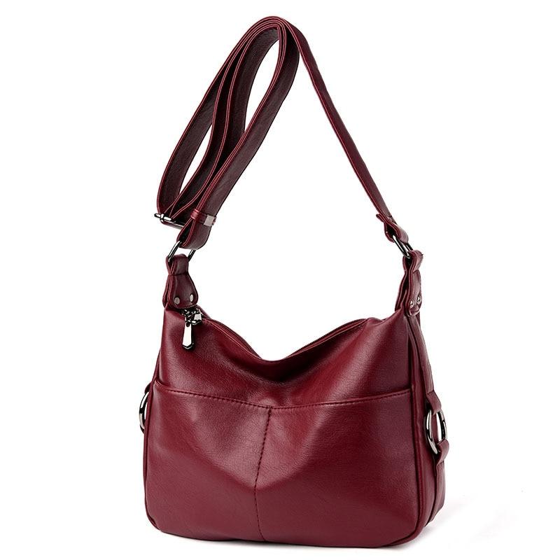 2018 New Fashion Sheepskin Leather Women Bag Genuine Leather Shoulder Bag Large Capacity Women Crossbody Bag Soft Tote Bags