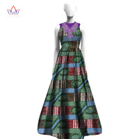 Dashiki 2018 African Dresses For Women Embroidery Collar Flowers African Clothes Elegant High Quality Dress AT2419