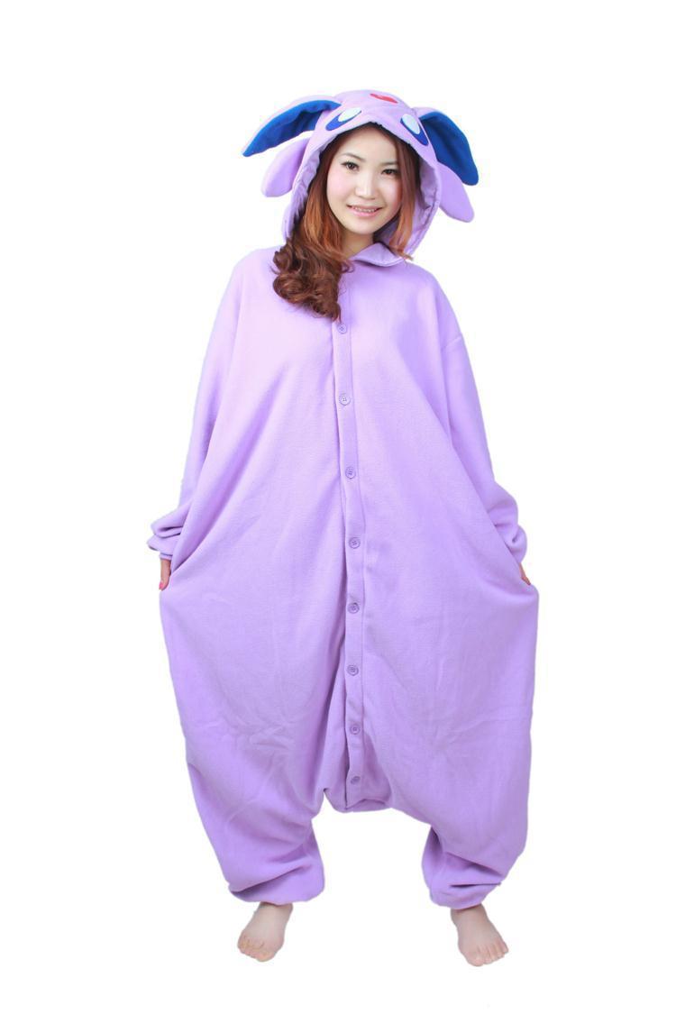 Cosplay anime púrpura espeon onesie traje unisex umbreon pijamas ...