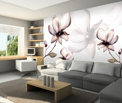 ФОТО Large murals made abstract factory 3D flower mural wall stikkers child bedroom wallpaper TV living room mural  home decor