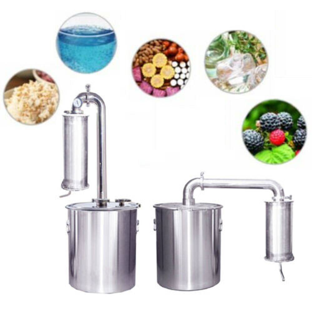 YUEWO 20L-150L Moonshine Still Alcohol Water Distiller 304 Stainless Steel Wine Making Set