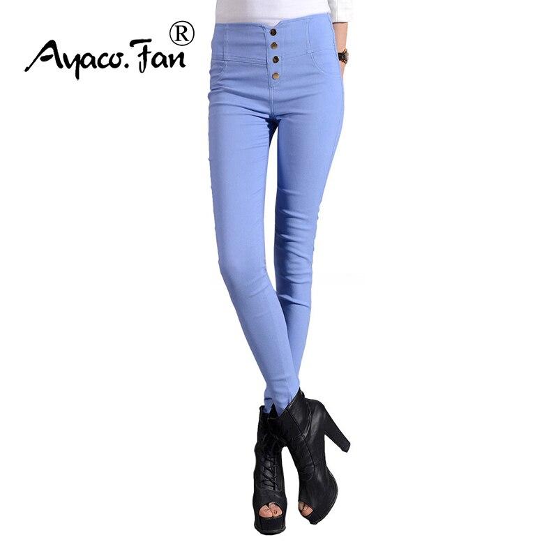 f1dd9f6802c4 2018 Nouvelles Femmes De Mode Long Pantalon Taille Haute Crayon Coloré  Pantalon Coton Élastique tissu Plus La Taille XXXXL Pantalon de Femmes  pantalon