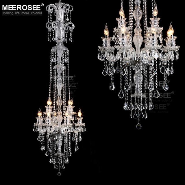 Long crystal chandelier light fixture 12 lights clear crystal stair long crystal chandelier light fixture 12 lights clear crystal stair restaurant hotel lamp prompt shipping 100 aloadofball Choice Image