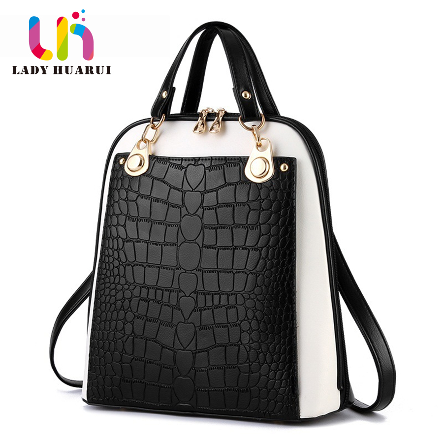 Fashion Simple Style Women Backpacks High Quality Leather School Bags Satchel Brand Female Backpack 2017 Rucksack Youth Q3 fashion design women backpack leather star rivet black female youth satchel