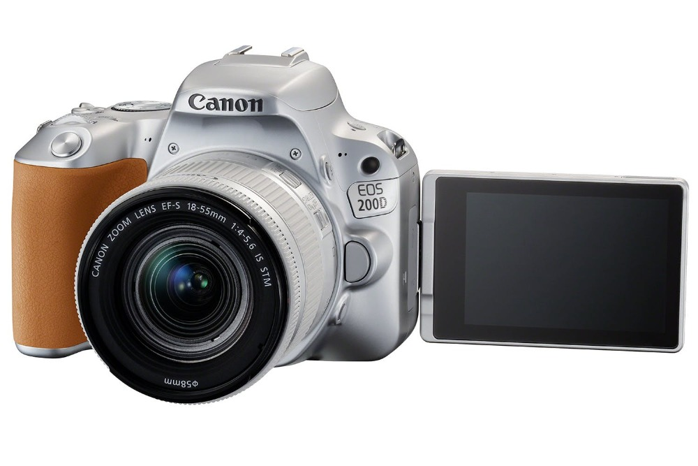 Canon 200D / Rebel SL2 DSLR Camera with 18-55mm Lens (Silver ...