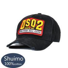 цена на DSQICOND2 Cotton Baseball Caps DSQ Letters Brand High Quality Cap Men Women Customer Design DSQ Logo Hat Black Cap Dad Hats