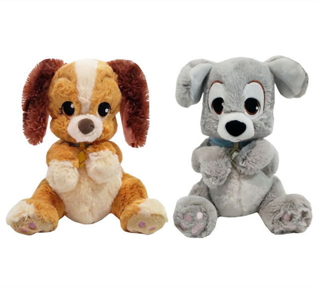 Lady And The Tramp Dog Plush Toy Cute Puppy Stuffed Animals 23cm