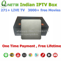 Envío gratis Full HD Android TV Box IPTV India, 271 canales Indios IPTV Caja con HD IP TV India canal