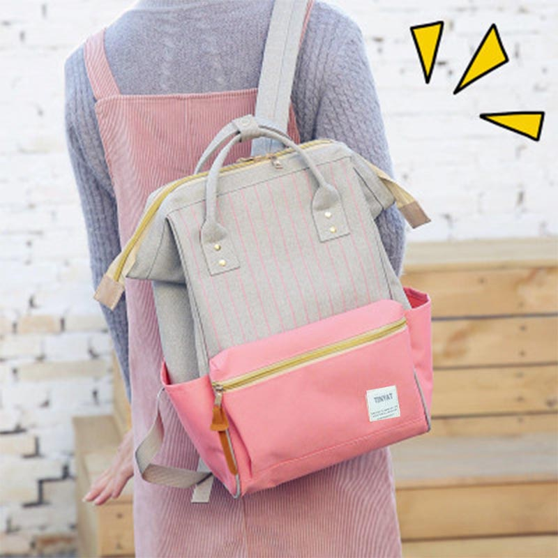 TINYAT Women Canvas Kanken Backpack 2017 Brand Fashion Women Backpack School Bags Girls Travel Back <font><b>pack</b></font> Portable Bagpack W41
