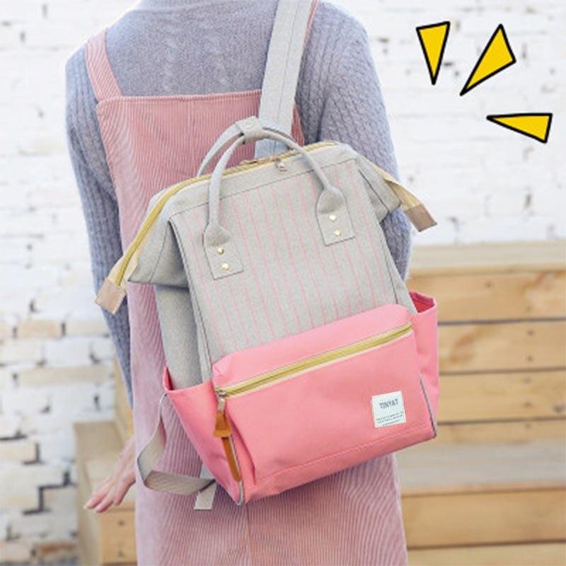 TINYAT Women Canvas Kanken Backpack 2017 Brand Fashion Women Backpack School Bags Girls Travel Back pack