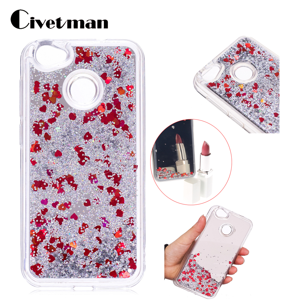 4 Colors Cover For ZTE Blade A6 A 6 5.2 Phone Case PC+TPU Mirror Dynamic Liquid Quicksand Luxury Shine Glitter Protective Shell