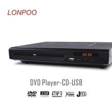 LONPOO Date Lecteur DVD Portable USB 2.0 Externe DVD Rom Lecteur Multimédia Numérique DVD TV Soutien HDMI Fonction Noir
