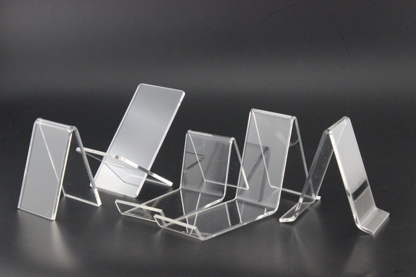 New 4 x V Shape Protection Clear Acrylic Shoes Retail Display Stand Rack Holder