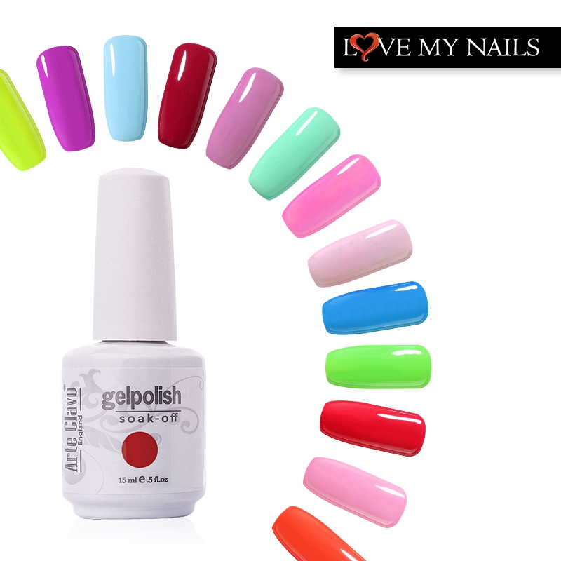 Arte Clavo 15ml Elija 1 de los 220 colores Gel Polish Soak Off UV Lámpara Nail Art UV Gel Nail Gel Polish