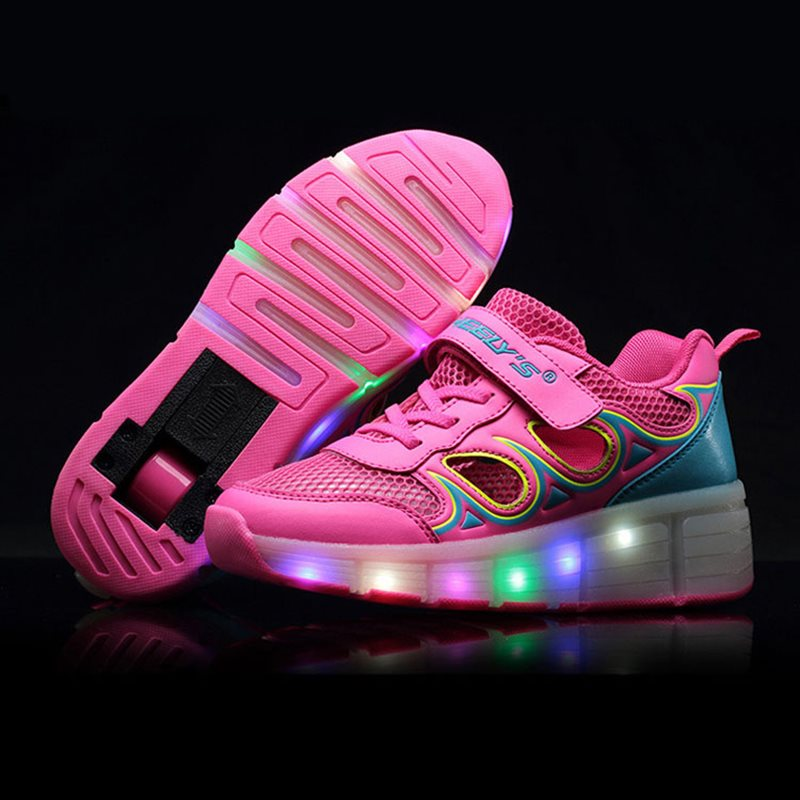 Shoes With Wheels Size    Led Lights