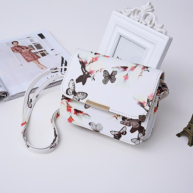 Butterfly Printed Shoulder Bag