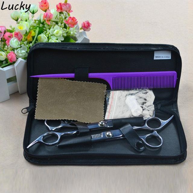 8 em 1 Salão Profissional de Cabeleireiro Tesoura Inoxidável Set Kit Barber Hair Cutting & Emagrecimento Tesoura Beleza Ferramenta Headwear