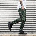 Dnine летом армия мода висит промежность jogger брюки лоскутное шаровары мужчины боковой молнии Камуфляж брюки брюки ГОРЯЧИЕ