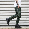 Dnine summer army fashion hanging crotch jogger pants patchwork harem pants men side zipper Camouflage pants trousers HOT