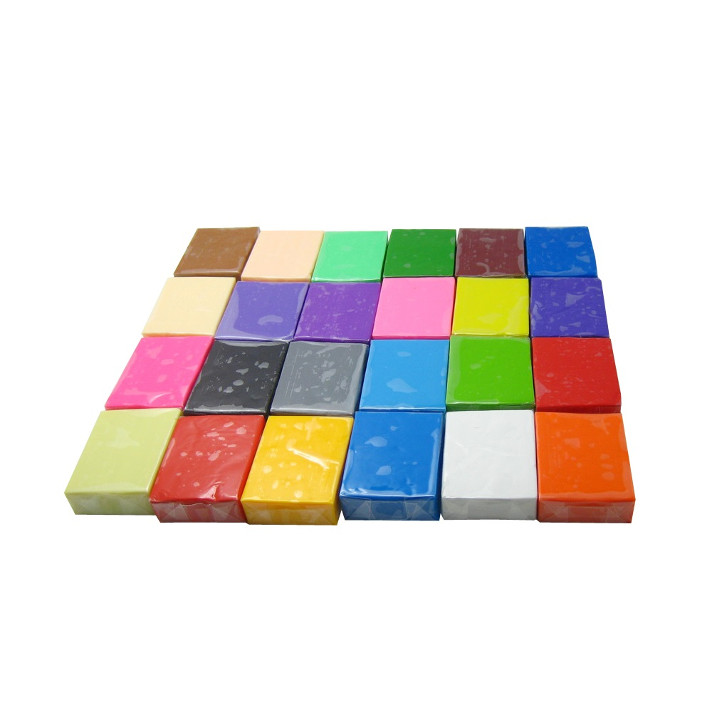 Flexible texture Polymer clay 24 color ,each color 21g block ,total around 500g