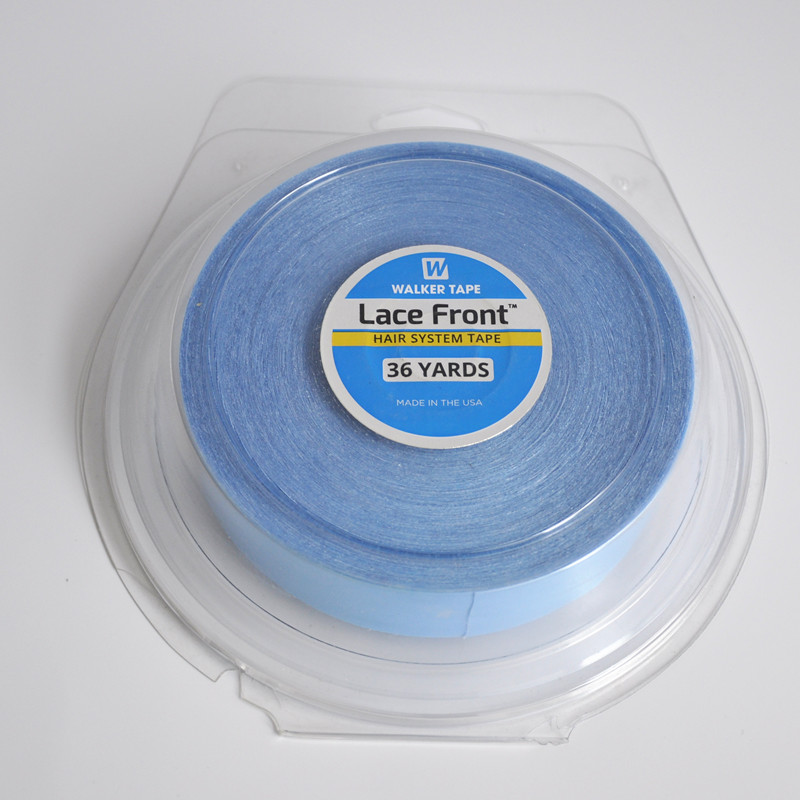 36yards Blue Lace Front Support Double Sided Tape For Hair Tape Extension/Man's Toupee/Lace Wig 3 4 inch 3yard white wig lace front support double sided adhesive tape for hair extension toupee lace wig pu extension