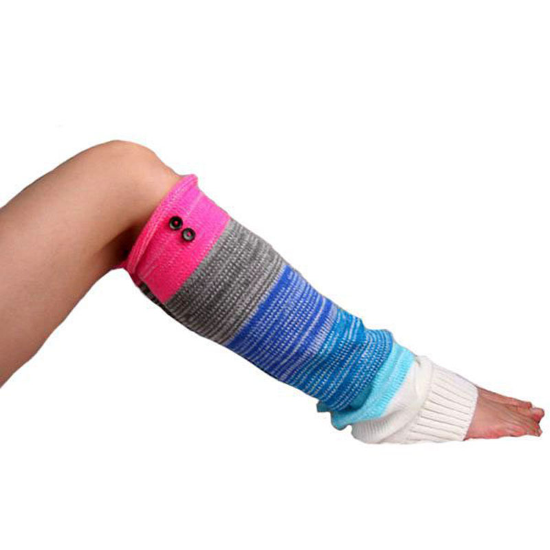 Ganchillo hecho punto Calentadores para piernas mujeres rodilla ...