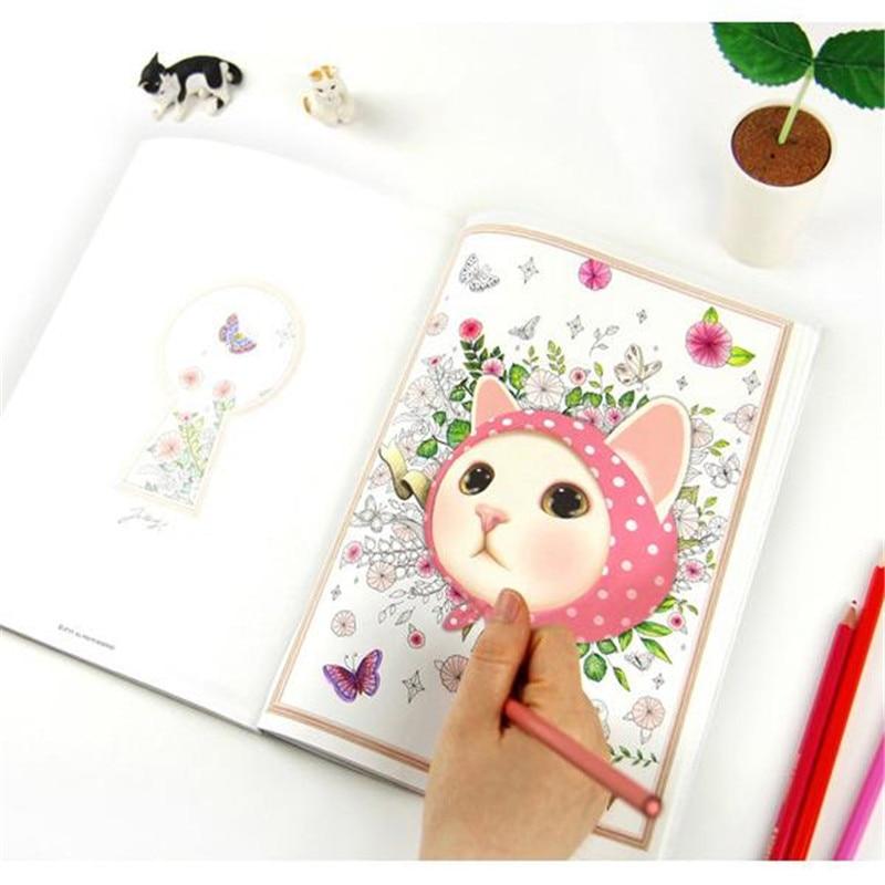 ▻Envío Gratis gato lindo libro para colorear aliviar el estrés ...