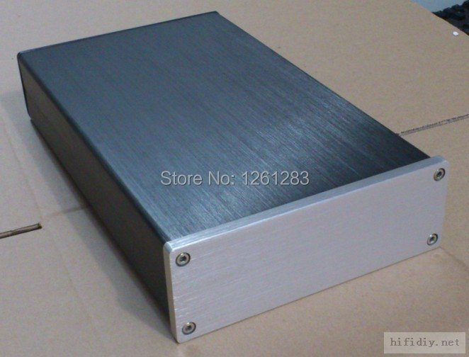 QFKJ high quality 1706 Full Aluminum Enclosure preamp case mini Power amp box PSU chassis