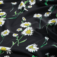 Heavy weight stretch crepe silk fabric printing atmospheric beauty