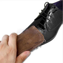 1PC Useful Horse Hair Professional Shoe Shine Polish Buffing Brush Wooden Fine