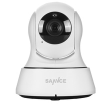 "SANNCE P2P 1.0Mp Indoor HD 720P IP Camera 1/4"" cmos 6pcs ONVIF IR Cut NIght Vision Wireless IP Camera"