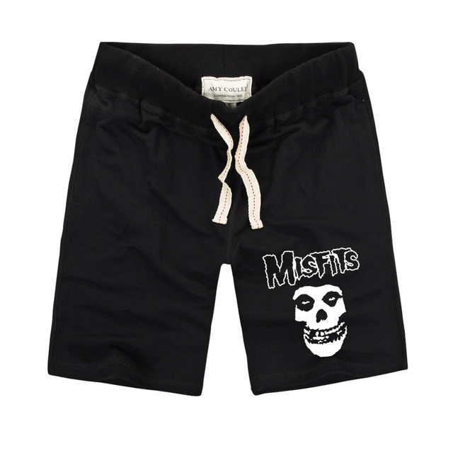 2790d6be5611 The MISFITS shorts High Quality 2018 Summer Fashion Skull Printed Men s  Casual fitness Shorts Cotton Short Pants Plus Size S-3XL