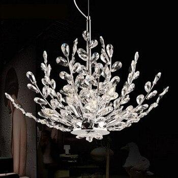 Eropa Mewah Ruang Liontin Lampu Kristal Modern DIPIMPIN Lampu Kristal Kreatif Pohon Ruang Makan Lampu E14 Indoor